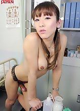 Watch Japanese tgirl Karina Shiratori in sexy doctor uniform as she delivers the good with her lovely breasts, smooth ass, and rock solid cock.