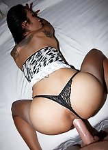 Ladyboy Natty - Leopard Mini POV Bareback Hardcore Action!